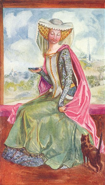 Associate Product COSTUME. A Woman of reign Henry V 1413-1422 1926 old vintage print picture