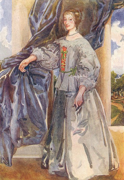 Associate Product COSTUME. A Woman of reign Charles I 1625-1649 1926 old vintage print picture