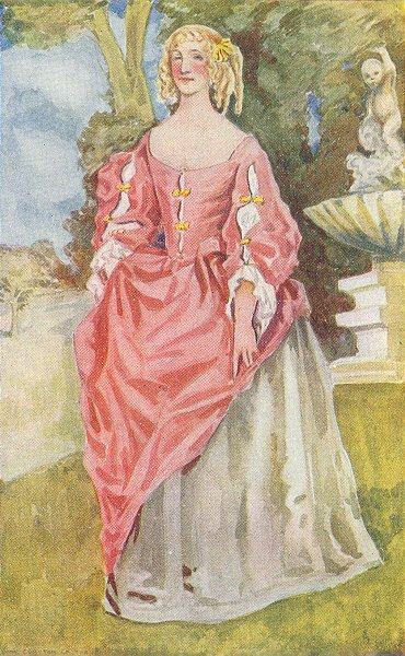 Associate Product COSTUME. A Woman of reign Charles II 1660-1685 1926 old vintage print picture