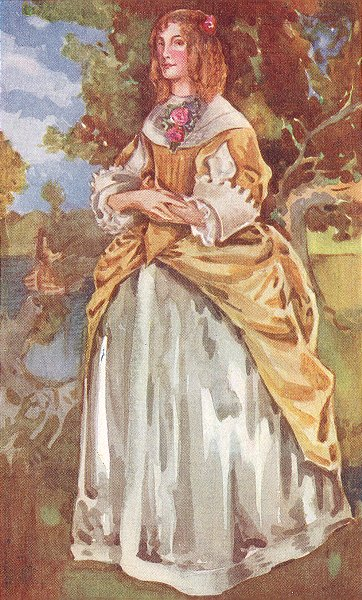 Associate Product COSTUME. A Woman of reign James II 1685-1689 1926 old vintage print picture