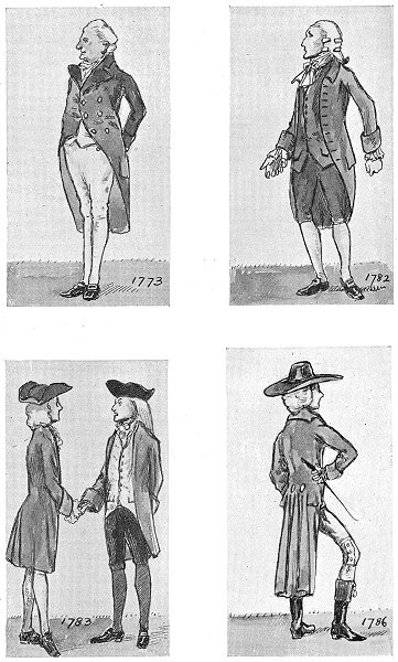 Associate Product DRESS. Reign George 4th. 1773. 1782; 1783; 1786 1926 old vintage print picture