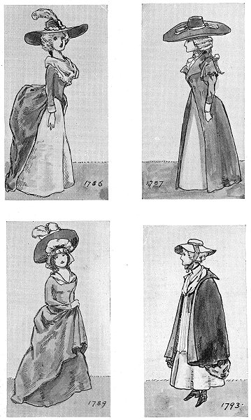Associate Product DRESS. Reign George 4th. 1786; 1787; 1789; 1793 1926 old vintage print picture