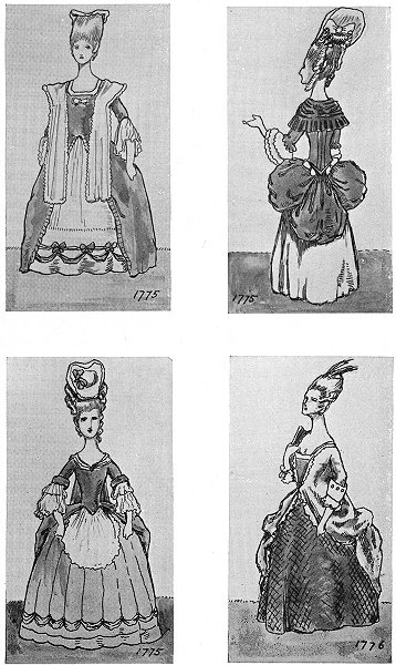 Associate Product ENGLAND. DRESS Reign George 4th. 1775; 1776 1926 old vintage print picture