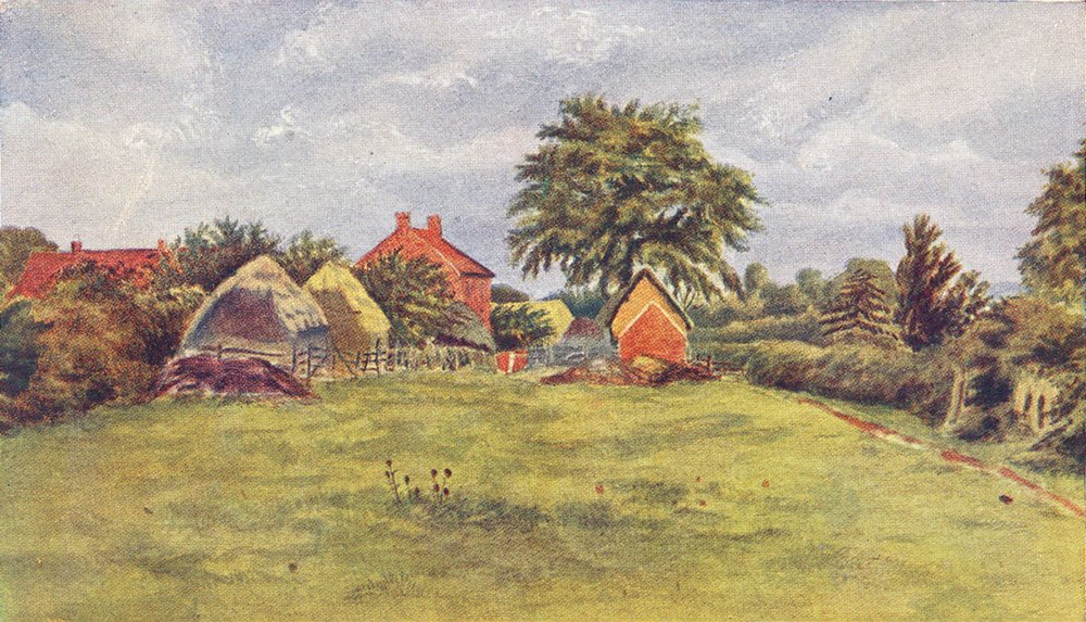 Associate Product LONDON. Chappells Cottage, Farm Croft Rolleston 1905 old antique print picture