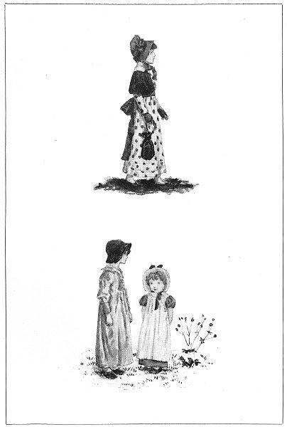 Associate Product KATE GREENAWAY. Girls Children Mrs Locker-Lampson 1905 old antique print