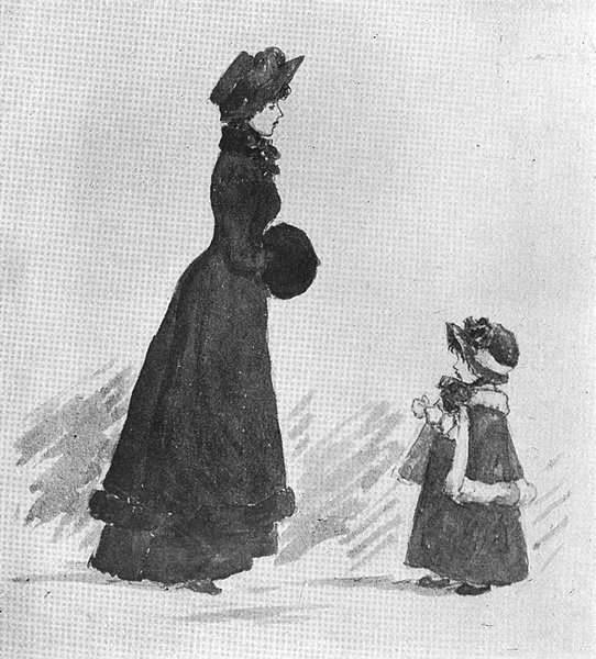 KATE GREENAWAY. Mother girl Locker-Lampson 1905 old antique print picture