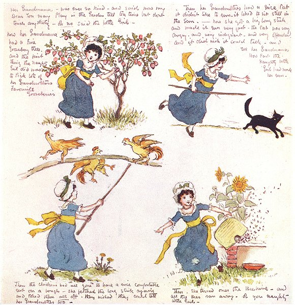 Associate Product KATE GREENAWAY. Naughty Little Girl 1905 old antique vintage print picture