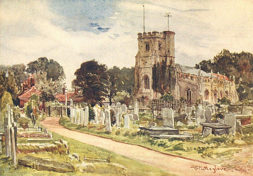 Associate Product LONDON. Edmonton Church 1907 old antique vintage print picture