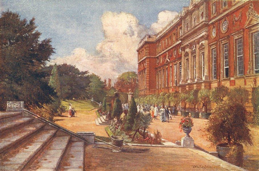 Associate Product LONDON. Hampton Court Palace. South Front 1907 old antique print picture