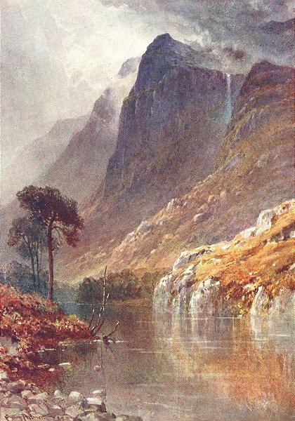 Associate Product SCOTLAND. Below Crags of Ben Venue, Perthshire 1904 old antique print picture