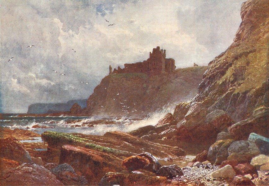 Associate Product SCOTLAND. Tantallon Castle, Haddingtonshire 1904 old antique print picture