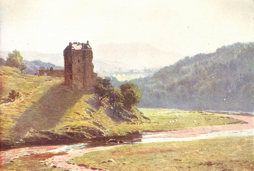 Associate Product SCOTLAND. Neidpath Castle, Peeblesshire 1904 old antique vintage print picture
