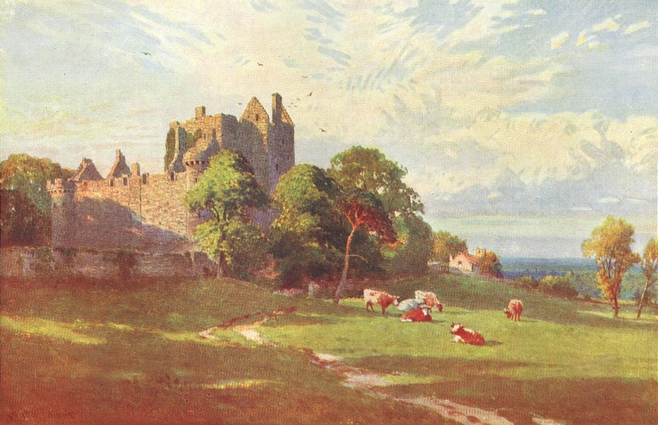 Associate Product SCOTLAND. Craigmillar Castle, Edinburgh 1904 old antique vintage print picture