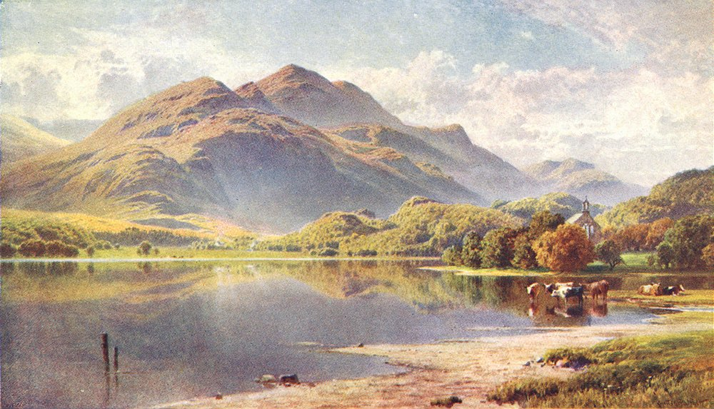 Associate Product SCOTLAND. Loch Achray, Trossachs, Perthshire 1904 old antique print picture