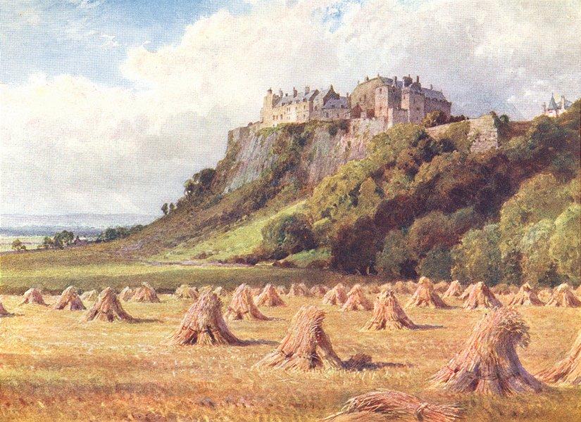 Associate Product SCOTLAND. Stirling Castle King's Knot 1904 old antique vintage print picture