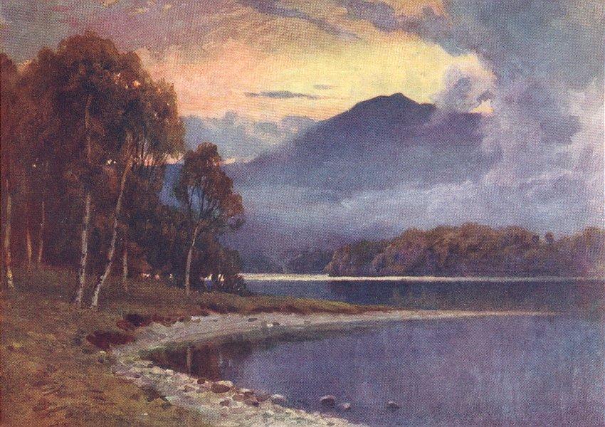 Associate Product SCOTLAND. Silver Strand, Loch Katrine, Perthshire 1904 old antique print