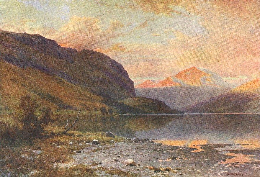 Associate Product SCOTLAND. Loch Lubnaig, Perthshire 1904 old antique vintage print picture