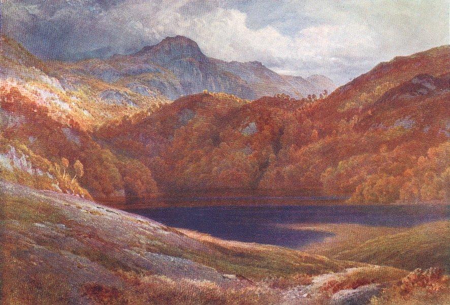 SCOTLAND. Ben A'an, Loch Katrine, Perthshire 1904 old antique print picture