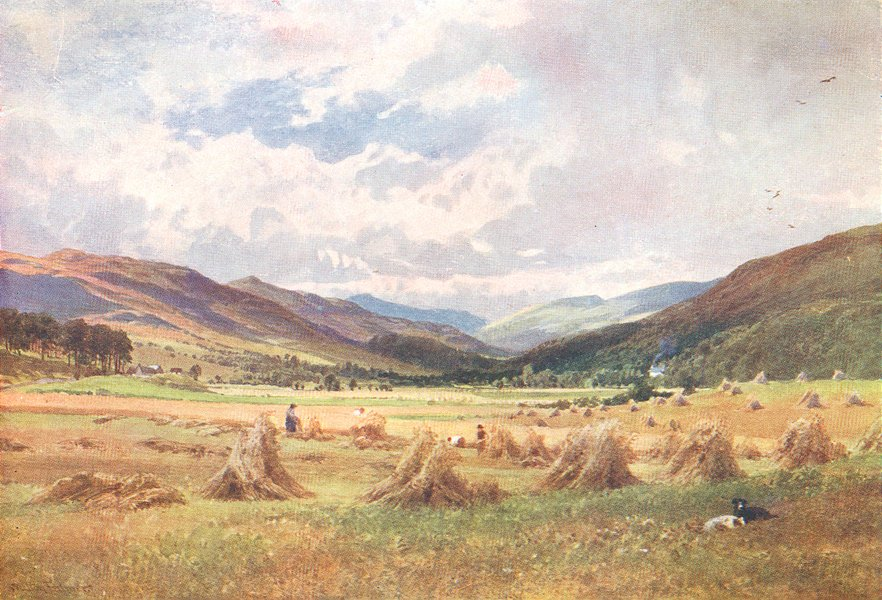 Associate Product KILLIN. Looking up Glen Lochay, Perthshire 1904 old antique print picture