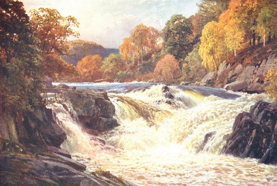 Associate Product SCOTLAND. Falls of Tummel, Perthshire 1904 old antique vintage print picture
