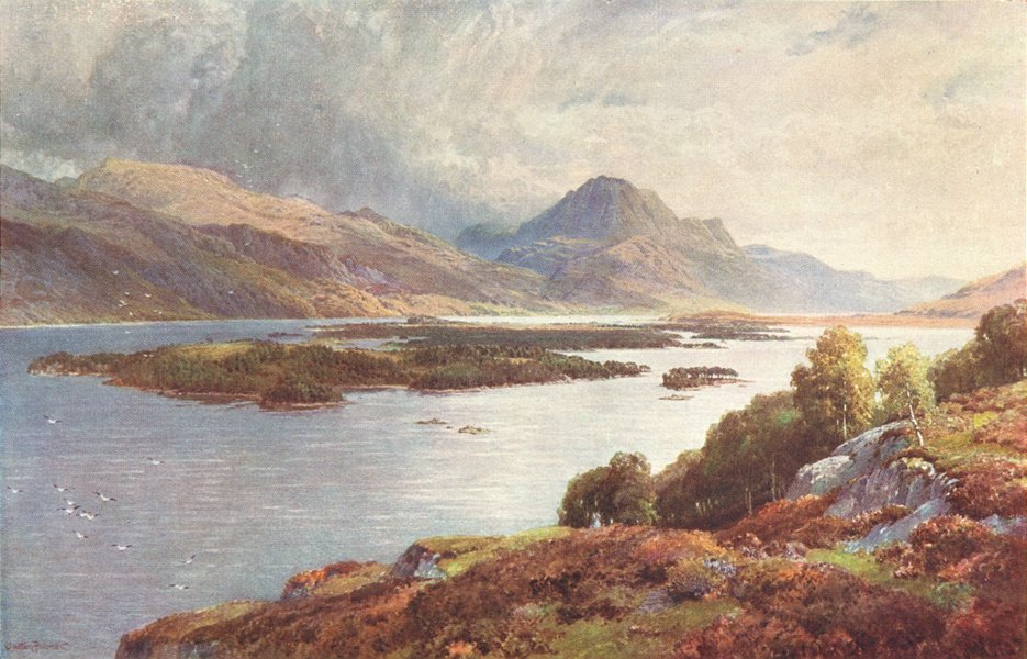 Associate Product SCOTLAND. Isles of Loch Maree, Ross-shire 1904 old antique print picture