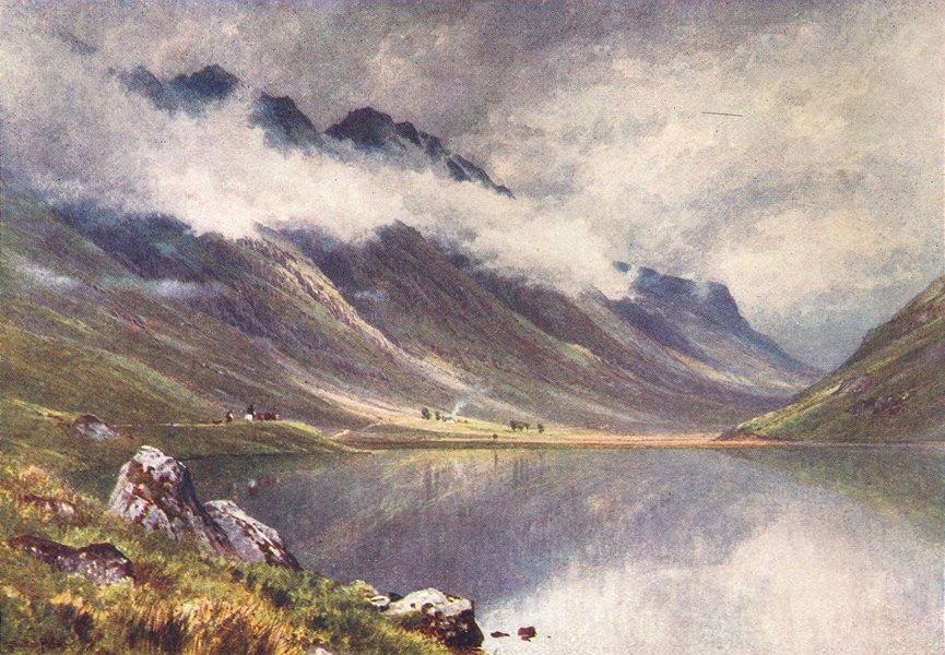 Associate Product SCOTLAND. Loch Triochatan, entry Glencoe, Argyll 1904 old antique print