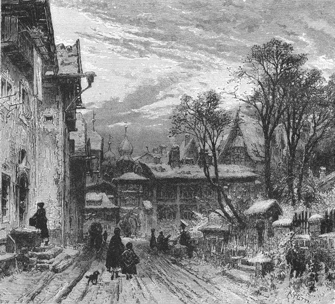 Associate Product SWITZERLAND. Ilanz, Grisons 1891 old antique vintage print picture
