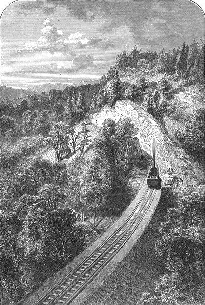 Associate Product SWITZERLAND. Railway up Rigi 1891 old antique vintage print picture