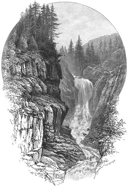 Associate Product SWITZERLAND. Falls of Aar at Handeck 1891 old antique vintage print picture