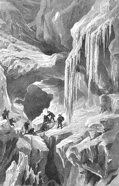 Associate Product SWITZERLAND. Ice World 1891 old antique vintage print picture