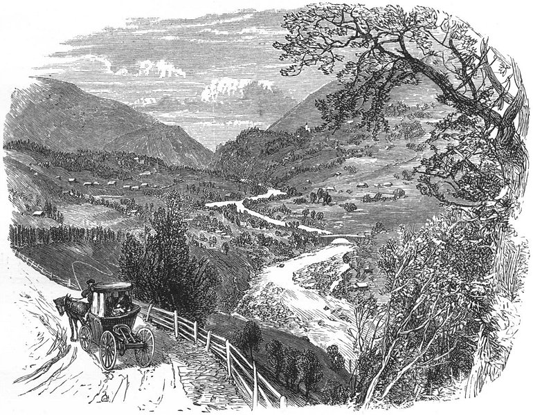 Associate Product SWITZERLAND. Upper Rhone Valley 1891 old antique vintage print picture