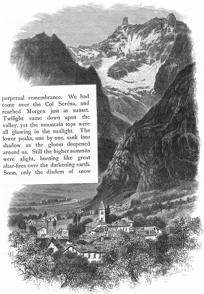 Associate Product ITALY. Courmayeur 1891 old antique vintage print picture