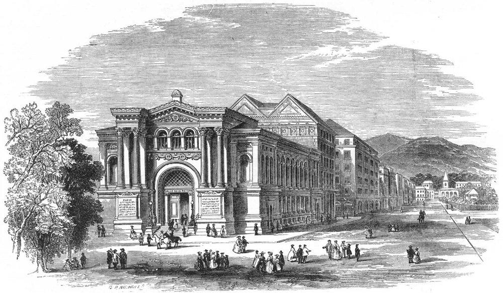 GENEVA. Memorial Hall of Reformation 1891 old antique vintage print picture