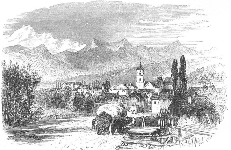 Associate Product SWITZERLAND. Gap, Birthplace of Farel 1891 old antique vintage print picture
