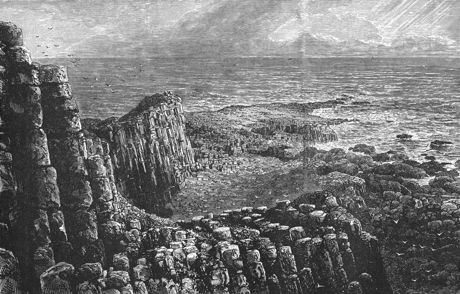 Associate Product ULSTER. Giant's Causeway 1888 old antique vintage print picture