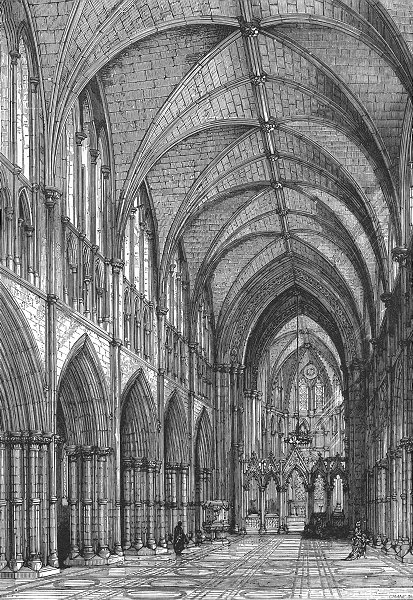 Associate Product IRELAND. Christ Church, restored 1888 old antique vintage print picture