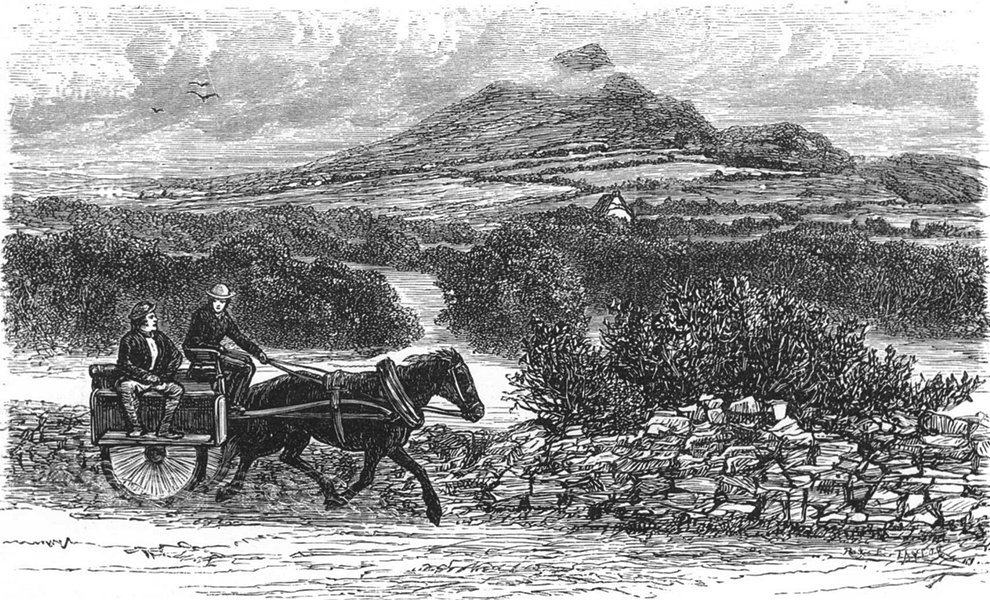 Associate Product IRELAND. Sugar-Loaf Mountain 1888 old antique vintage print picture