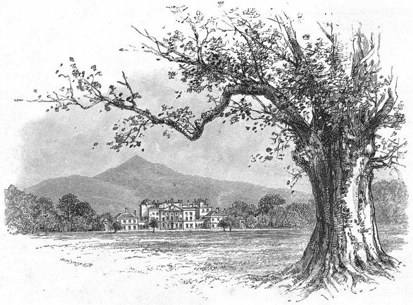Associate Product IRELAND. Powerscourt House 1888 old antique vintage print picture