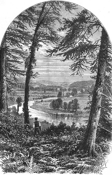 Associate Product IRELAND. Vale of Avoca 1888 old antique vintage print picture