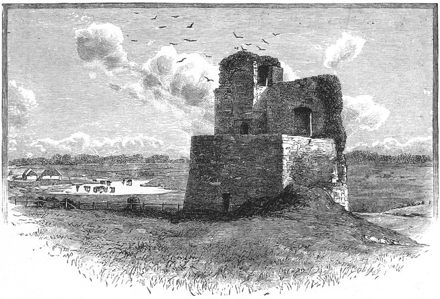 Associate Product IRELAND. Kilcolman Castle 1888 old antique vintage print picture