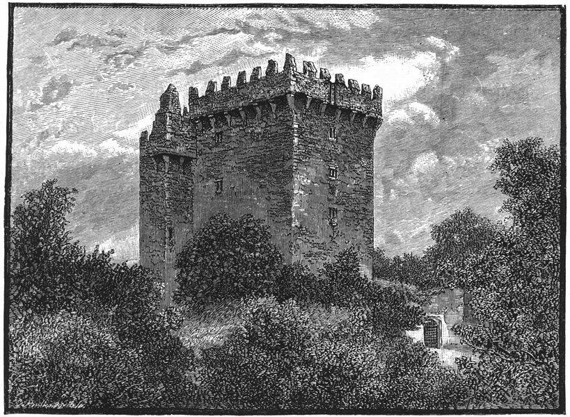 Associate Product IRELAND. Blarney Castle 1888 old antique vintage print picture