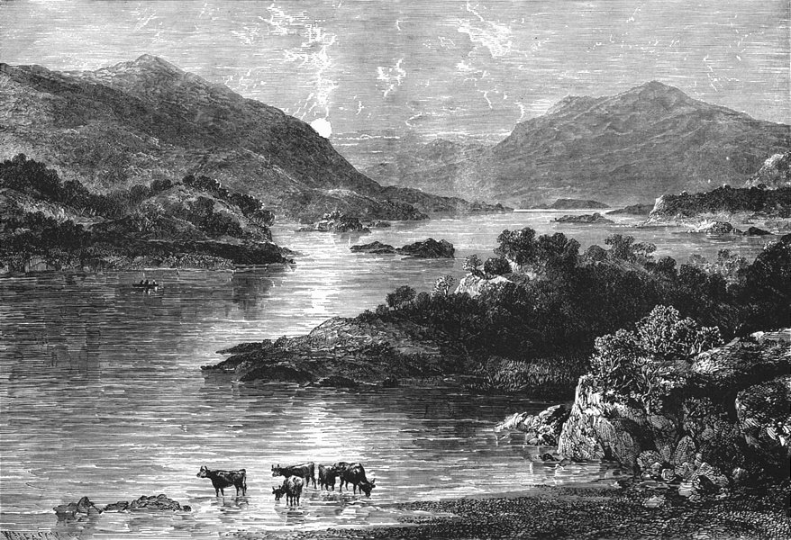 Associate Product IRELAND. Upper lake Killarney 1888 old antique vintage print picture