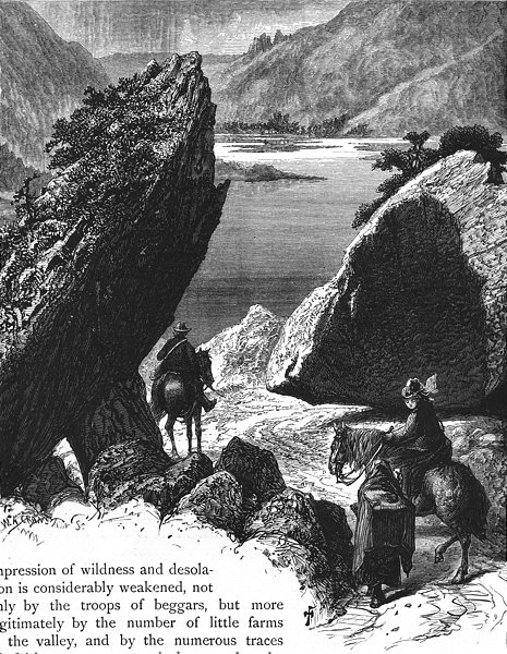 Associate Product IRELAND. Pike, Gap of Dunloe 1888 old antique vintage print picture