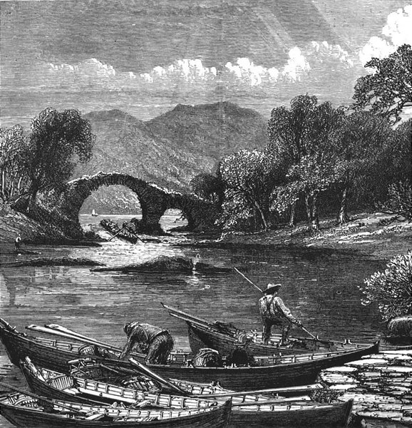 Associate Product IRELAND. Weir bridge, Killarney 1888 old antique vintage print picture