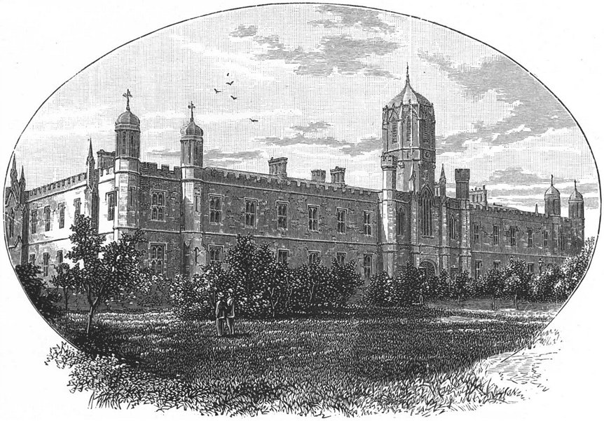 IRELAND. Queen's College, Galway 1888 old antique vintage print picture
