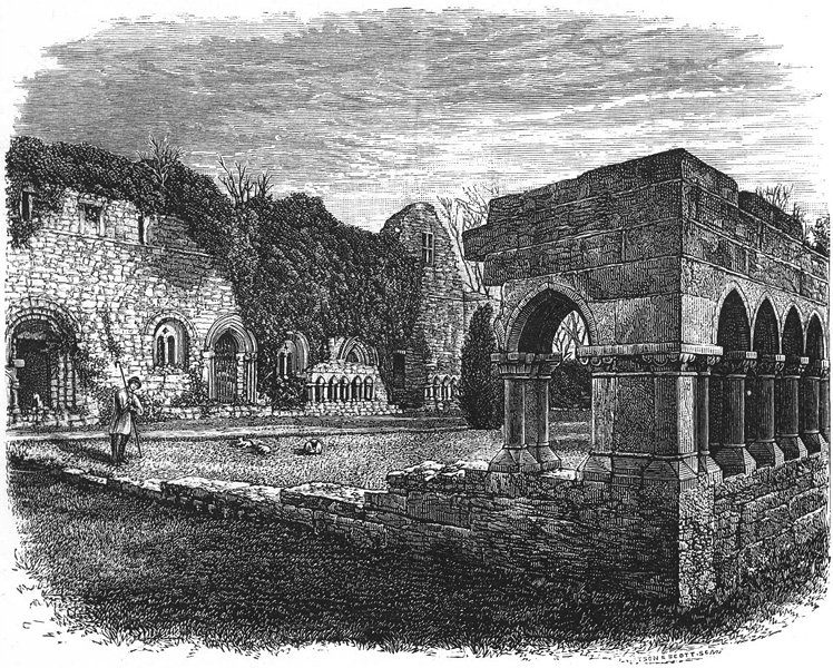 Associate Product IRELAND. Cong Abbey 1888 old antique vintage print picture