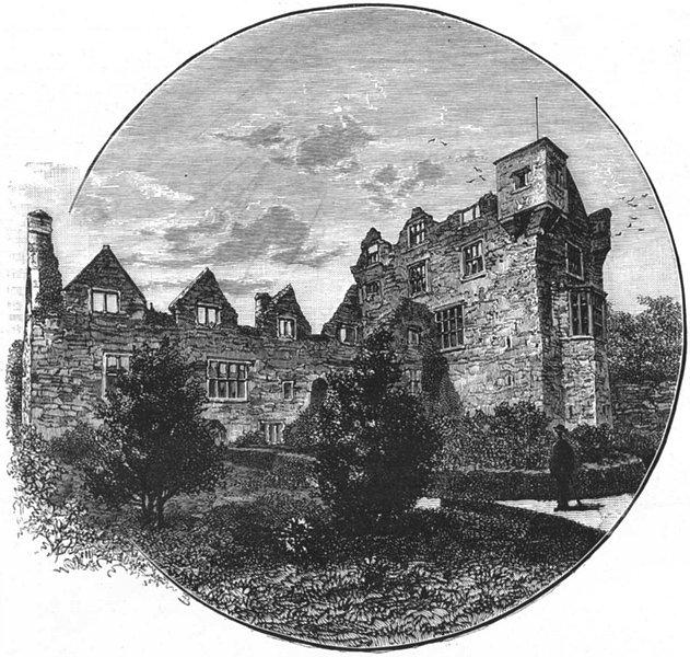 Associate Product IRELAND. Donegal Castle 1888 old antique vintage print picture