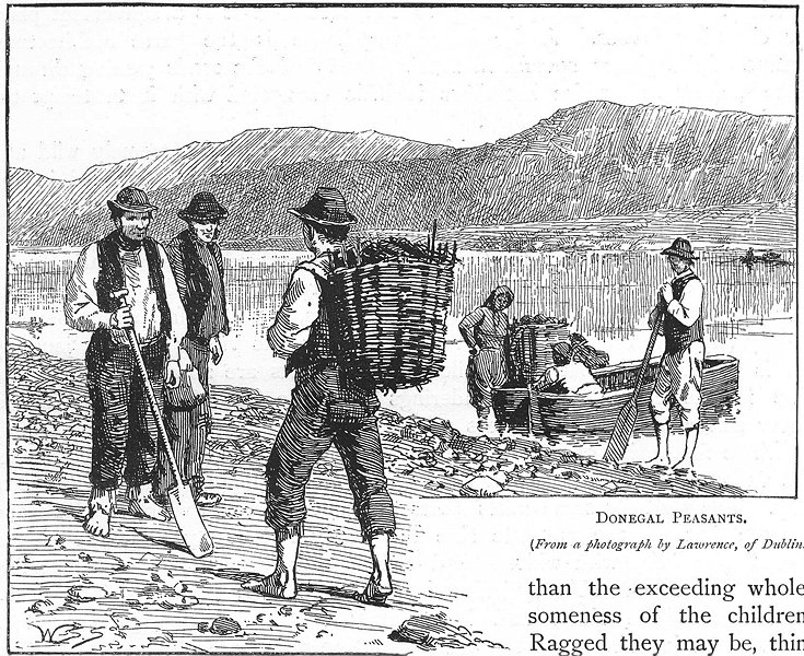 Associate Product IRELAND. Donegal Peasants 1888 old antique vintage print picture