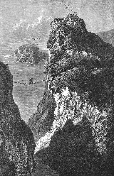 Associate Product IRELAND. Carrick a Rede 1888 old antique vintage print picture