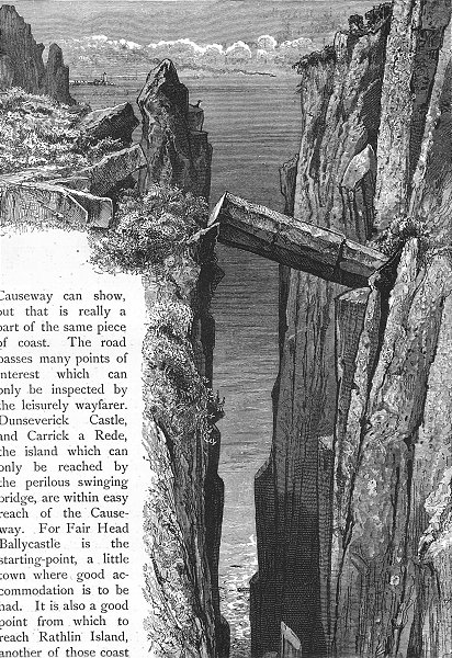 Associate Product IRELAND. Grey Man's Path 1888 old antique vintage print picture